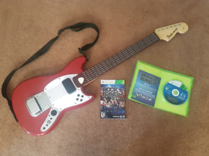 Rock Band 3 + Red String Guitar & Guitar Pick for Xbox 360