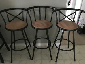 "30"" bar height stools (set of 3)"