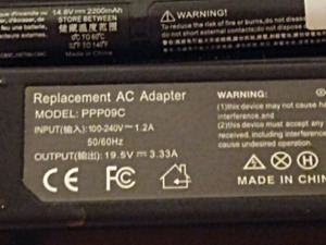 I have a new hp new laptop battery and power cord