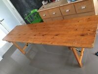 Vintage industrial Pine folding table