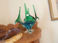 Large Dual Coloured Canadian Murano Glass Pieces at KeepSakes