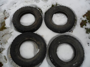 Set of 4 Atlas Weatherguard Mark 5 165 80 R13 MK 5 Winter Snow