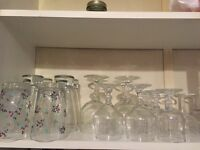 Collection of 36 glasses