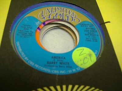 Soul Promo 45 Barry White America On Unlimited Gold  Promo  1