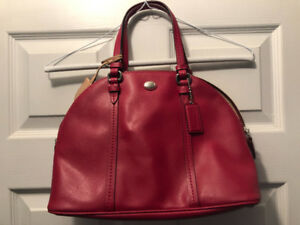 COACH HANDBAG - RED