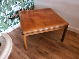 Nathan Solid Teak Mid Century Square Coffee Table