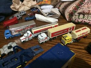 For sale collection of tractor trailer die cast vehicles