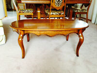Formal coffee table and 2 end tables