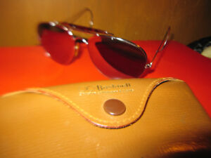 8d9b0630ac Bausch And Lomb Bushnell Shooter Aviator Sunglasses Vintage Rare