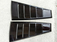 Mustang Quarter Window Louvers (2005-2014) Black
