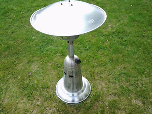 Stainless steel base patio heater