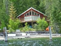 Waterfront Cabin For Sale At Adams Lake