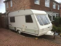 4 berth Swift Rapde 430/4 caravan with rear bunk beds