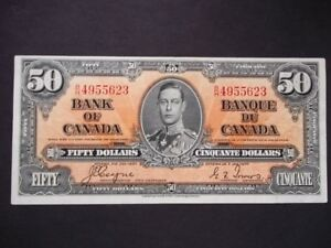 1937 $50.00 Coyne-Towers Bank of Canada Banknote