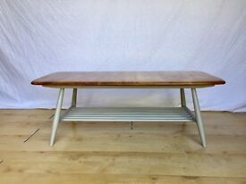vintage Ercol rack coffee tv table retro