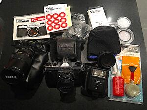 Pentax K1000 + accessoires