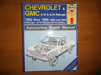 1982-1990 Chevrolet S-10 GMC S-15 Blazer Jimmy Service Manual