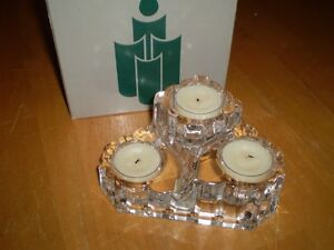 CRYSTAL CANDLE HOLDER Windsor Region Ontario image 1