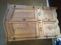 Authentic Mexican Pine TV hutch