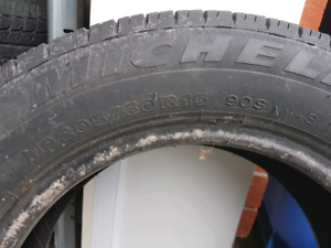 4x 195-55-16 winter tires. Michelin xice.  2x 205-60-15 michelin