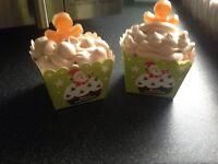 Homemade Christmas cupcake bath bombs