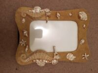 Sea horse picture frame
