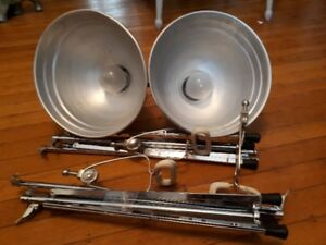 vintage ACME-LITE photography lights, stands and clamps