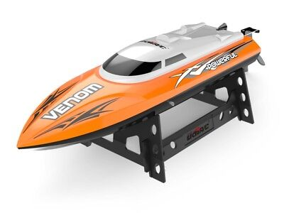 Udirc Rc Boat 2 4Ghz High Speed Remote Control Electric Boat Power Venom Orange