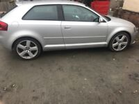 Audi A3 3.2 for . 77000 on clock