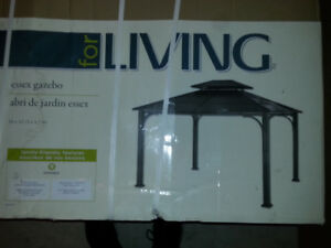 **NEW** ESSEX GAZEBO 12 L X 10 W X 9.89 H Ft. (BLACK)
