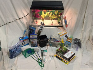 10 gal fish tank plus accessories