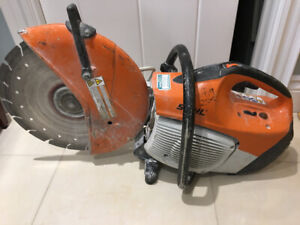 Stihl TS 420 quick cut /concrete saw with 14 inch blade