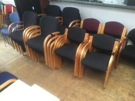Selection of black reception chairs