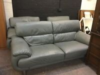 Fabulous grey leather three piece suite
