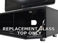 Replacement black glass top only To Fit MDA Designs Cubic 1000 TV Cabinet Stand