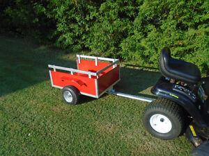 Remorque dompeur pour tracteur à gazon neuve