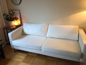 White Ikea couch