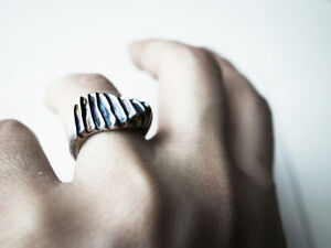 Organic ring, Handcrafted Silver Ring, Art Jewellery by J Lim