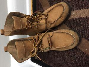 Polo Ralph Lauren ranger boots leather suede shoes men's size 8