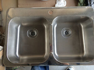 New kitchen stainless steel double sink
