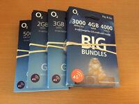 25 FREE O2 SIM CARDS - BRAND NEW