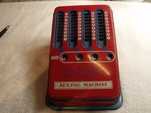ANTIQUE JOUET MACHINE A CALCULER 1950