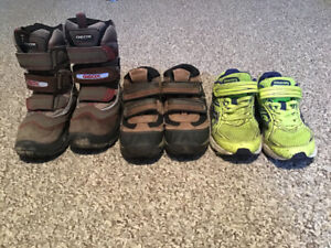 Keen, Columbia, Croc, Saucony, Bog boots, sandles and shoes