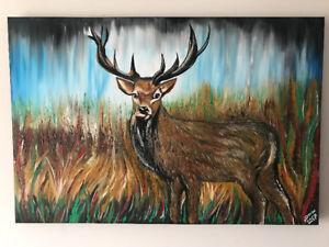 Deer painting/moose painting