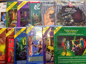 Looking for older Dungeons and Dragons D&D books and modules