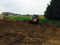 Bobcat/skid steer services/Post hole drilling