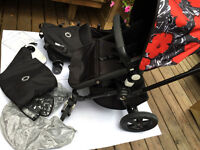 Rare All black Bugaboo Cameleon 3 with additional Warhol cover