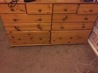 Pine drawer set