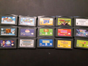 Gameboy Advance Games, pack of 15 total games, 4 Mario classic.