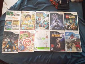 10 NINTENDO WII GAMES FOR $100 FOR BUNDLE.